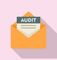 audit mail icon flat style