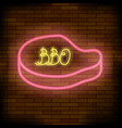 barbeque pub neon colorful sign vector image vector image