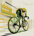 Biking cycling vector image