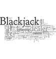 blackjack terms part three vector image vector image