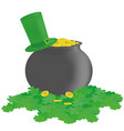 bowler hat and clover vector image vector image