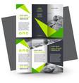 brochure design template creative tri-fold green vector image vector image