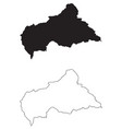 central african republic country map black