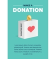 Charity and donation poster set Flat design For vector image