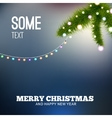 Christmas background with lights Christmas tree vector image vector image