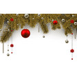 christmas background with spruce branches and vector image vector image