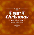 christmas card design with elegant design vector image vector image