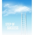 cloud stair way to success in blue sky vector image