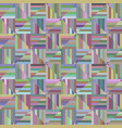 colorful geometric striped triangle mosaic vector image vector image
