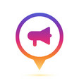 colorful speaker sign in circle pin icon vector image