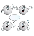 Crying golf ball set vector image