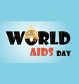 cute cartoon condom with aids ribbon vector image vector image