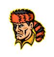 davy crockett mascot vector image vector image