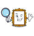 detective picture frame character cartoon vector image vector image