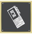Dictaphone icon vector image vector image