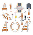 different structural elements of railway vector image vector image