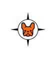 dog compass logo icon vector image