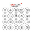 easy icons 44b computer virus vector image vector image
