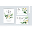 elegant watercolor floral wedding set invite cards vector image vector image