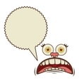 face cartoon gesture with dialogue scream callout vector image