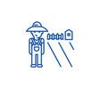 farming and gardening line icon concept farming vector image vector image