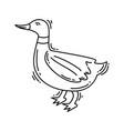 farming duck icon hand drawn icon set outline vector image