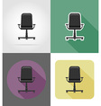 furniture flat icons 30 vector image vector image