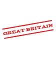 Great Britain Watermark Stamp vector image vector image