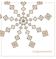 Greeting card with ethnic ornament pattern in vector image