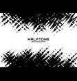 halftone dots grunge texture horizontal background vector image