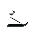 incense sticks simple black icon on white vector image