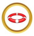 Lifebuoy icon vector image vector image