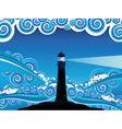 Lighthouse in the Sea5 vector image vector image