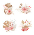 luxury dried bouquets dry protea flowers vector image vector image