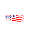 made in usa american quality flag icon vector image