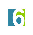modern logo number 6 vector image vector image