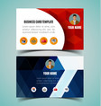 name card template3 vector image vector image