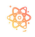 nuclear icon design vector image
