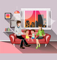 parents and their children in living room vector image