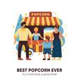 popcorn van vector image vector image