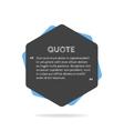 Quotation mark speech bubble Empty quote blank vector image vector image