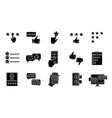 rating glyph icons set vector image
