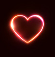 red neon heart background 3d realistic design vector image