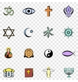 religion set icons vector image vector image