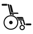retirement wheelchair icon simple style vector image vector image