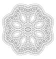 Round decorative pattern Lace circle design vector image