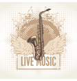 Saxophone with wings vector | Price: 1 Credit (USD $1)