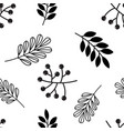 seamless pattern with autumn leaves and acorns vector image vector image