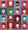 set of avatars b vector image vector image