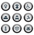 set of simple safeguard icons vector image vector image